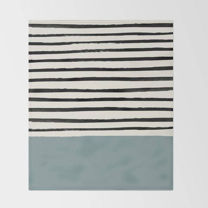 River Stone & Stripes Throw Blanket