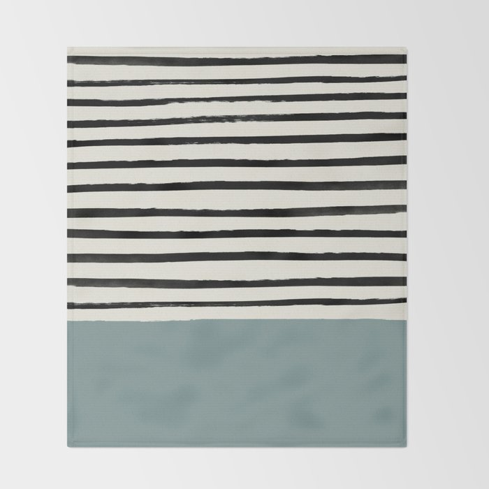 River Stone & Stripes Throw Blanket