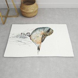 Mr Riroriro, the New Zealand Grey Warbler Rug