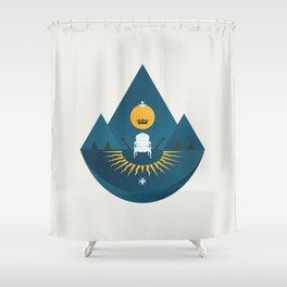 The Sun King Shower Curtain