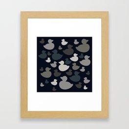 AL AQUA DUCK: BLUE INK Framed Art Print