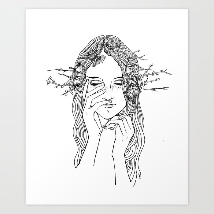 close your eyes, then you will see Art Print