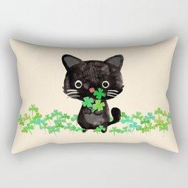 The Luckiest Cat Rectangular Pillow