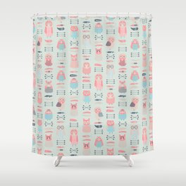 Boho owls Shower Curtain