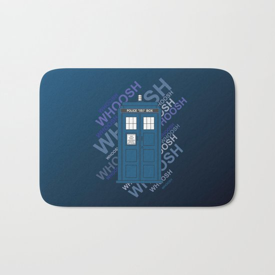 Tardis Whoosh sound Doctor Who Bath Mat