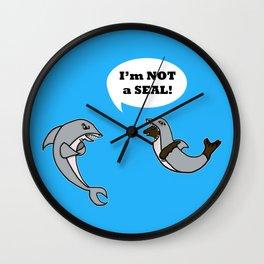 I'm Not A Seal! Wall Clock