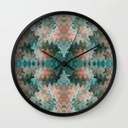 South Western Desert Colors Wavy Mosaic Wall Clock