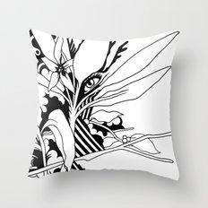 eye & leaf Throw Pillow