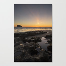 Sunset in Cornwall Canvas Print