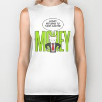 returns Biker Tanks featuring Money returns by English Bull Terrier Lover