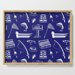 Gone Fishing // Midnight Blue Serving Tray