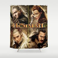 the hobbit Shower Curtains featuring Hobbit by custompro