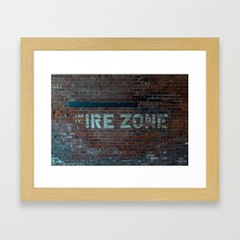 The (F) Ire Zone Framed Art Print