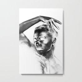 Fashion Body Paint Art Metal Print