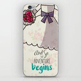 Adventure begins iPhone Skin