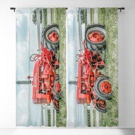 Vintage Farmall A Antique Red Tractor Farming Nostalgia Farm Equipment  Blackout Curtain