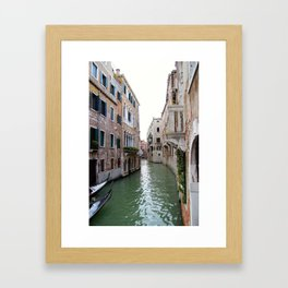 Travelling the Canals of Venice Framed Art Print