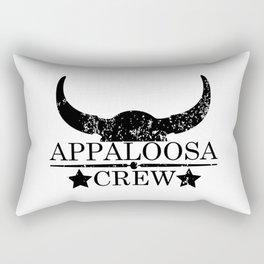 Appaloosa crew wild west emblem black Rectangular Pillow