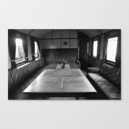 Old train compartment 4 Canvas Print