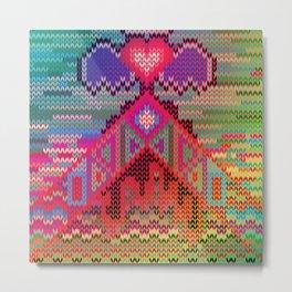 pyramid heart Metal Print