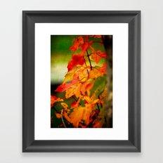 Tumble Down Fire Framed Art Print