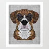 boxer Art Prints featuring Boxer by ArtLovePassion