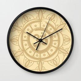 Ohm Mandala - Yellow Wall Clock