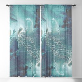 Space, happy colors No7 Sheer Curtain