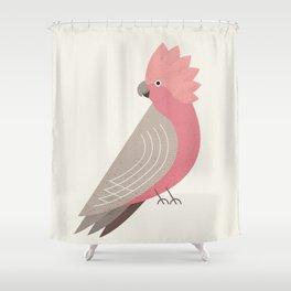 Whimsy Galah Shower Curtain