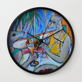 My Summer in Provence Wall Clock