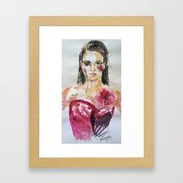 'Posh' portrait painting Framed Art Print