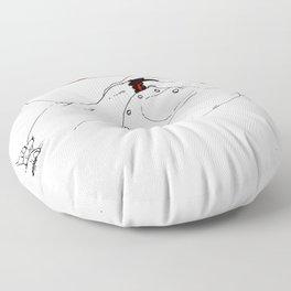 Nudegrafia - 005 fingering Floor Pillow