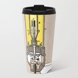 patent - Edison - Electric Lights - 1880 Travel Mug