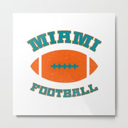 Miami Football Metal Print