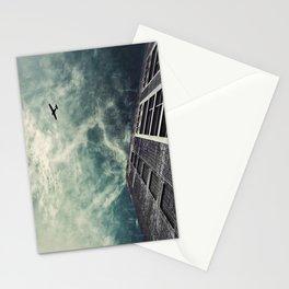 Boston [Sky cut 414] Massachussets, Usa Stationery Cards