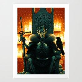 Undead King Art Print