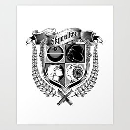 Family Coat of Arms Art Print