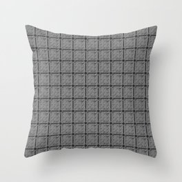 HERITAGE digital faux texture grey 'flannel' ceramic tile Throw Pillow