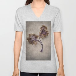 Colorful leaves of cabbage Unisex V-Neck