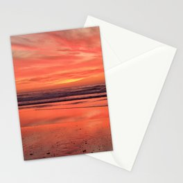 Sky on  Fire - At the Beach Stationery Cards
