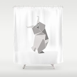 """Collection """"Origami"""" impression """"Owl Paper"""" Shower Curtain"""