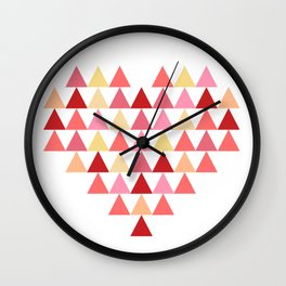 Triangles of Love Wall Clock
