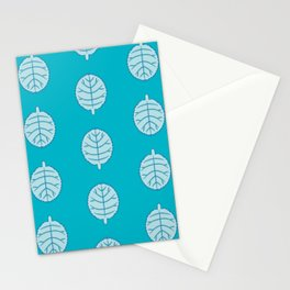 Toothed Margin Foliage Pattern Stationery Cards