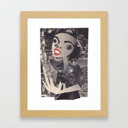 Judy Garland #PrideMonth Collage Portrait Framed Art Print