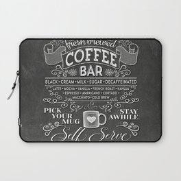 Chalkboard Coffee Bar Sign with Typography  Laptop Sleeve