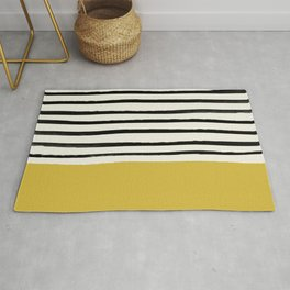 Mustard Yellow & Stripes Rug