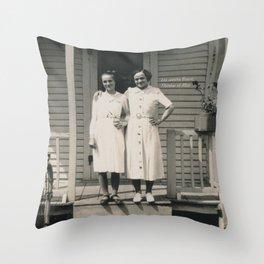 Les soeurs Bisson, Thérèse et Alice - The sisters Bisson, Therese et Alice Throw Pillow