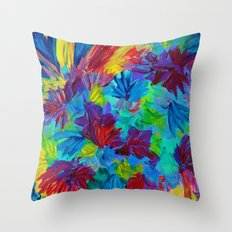 TUTTI FRUTTI - Fruit Punch Floral Bouquet Flowers Bright Bold Colorful Painting Romantic Rainbow Throw Pillow