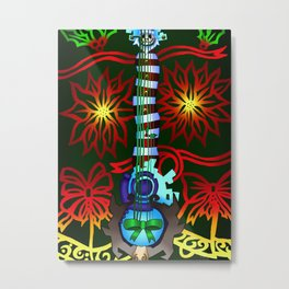 Fusion Keyblade Guitar #197 - Decisive Pumpkin & Dual Disk Metal Print