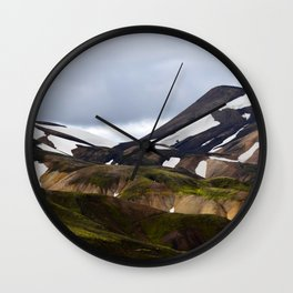 Snow Top Hillside Wall Clock